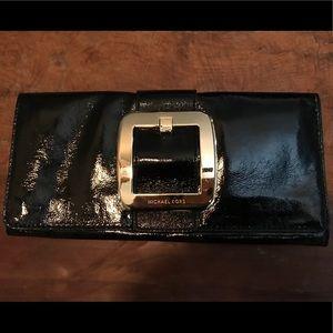 Michael Kors NWOT black patent leather clutch